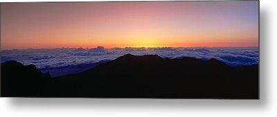 Sunrise Over Haleakala Volcano Summit Metal Print by Panoramic Images