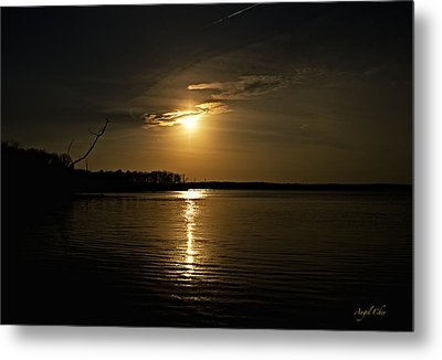 Metal Print featuring the photograph Sunset by Angel Cher