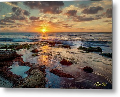 Metal Print featuring the photograph Sunset At La Jolla  by Rikk Flohr