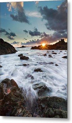 Sunset At Lombok Metal Print
