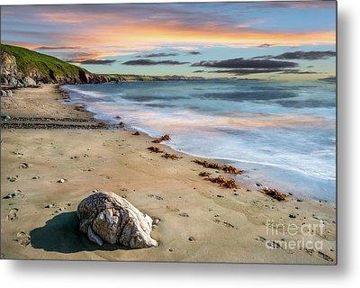 Sunset Beach Metal Print by Adrian Evans