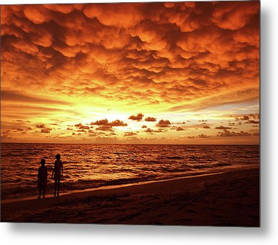 Metal Print featuring the photograph Sunset Before The Storm by Melanie Moraga