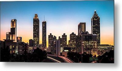 Sunset In Atlanta  Metal Print