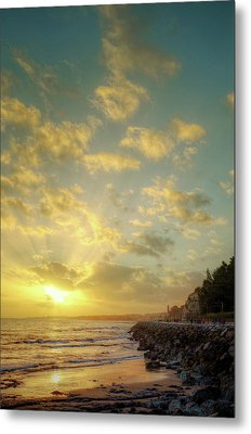 Metal Print featuring the photograph Sunset In The Coast by Carlos Caetano