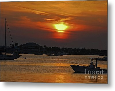 Metal Print featuring the photograph 1- Sunset Over The Intracoastal by Joseph Keane