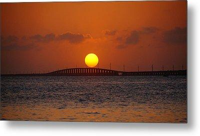 Sunset Seven Mile Bridge Metal Print