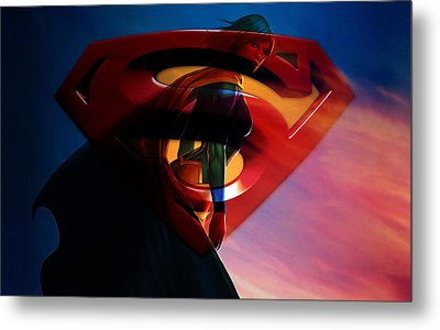 Supergirl Art Metal Print by Marvin Blaine
