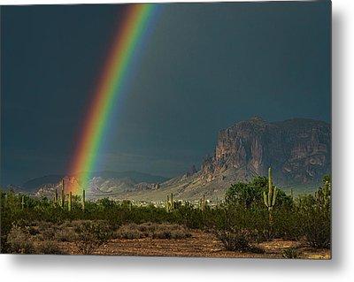 Metal Print featuring the photograph Superstition Rainbow  by Saija Lehtonen