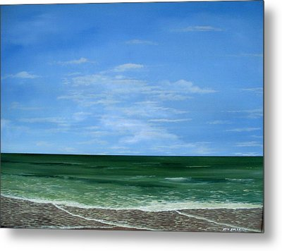 Metal Print featuring the painting Surf Lace by Ken Ahlering
