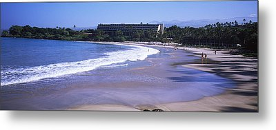Surf On The Beach, Mauna Kea, Hawaii Metal Print by Panoramic Images
