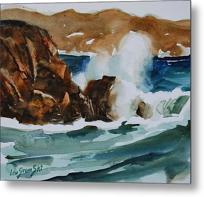 Metal Print featuring the painting Surf Study by Len Stomski