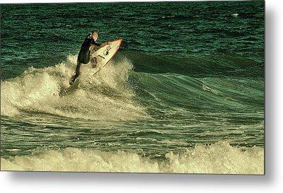 Surfing - Jersey Shore Metal Print by Angie Tirado
