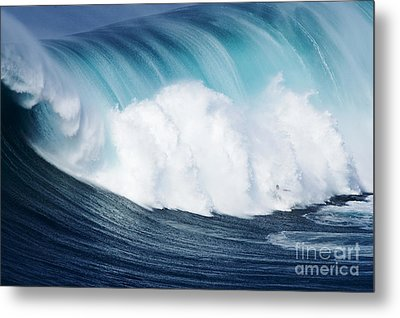 Surfing The Infamous Jaws Metal Print by Ron Dahlquist - Printscapes