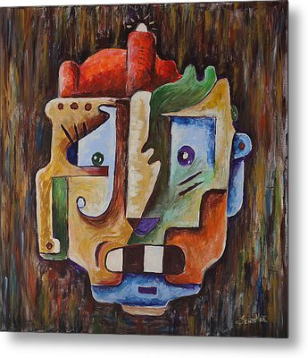 Surrealist Head Metal Print