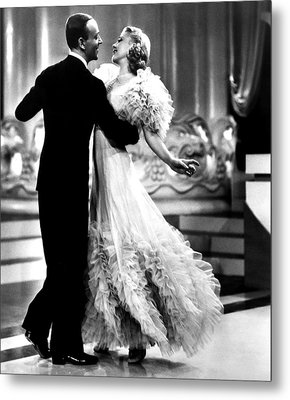 Swing Time, Fred Astaire, Ginger Metal Print by Everett