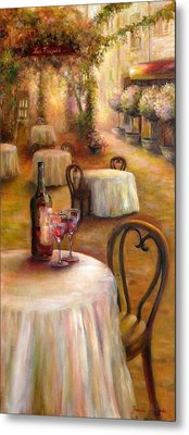Table For Two Metal Print by Bonnie Goedecke