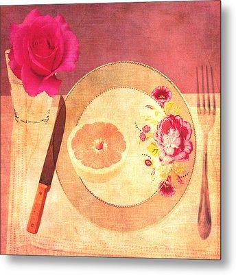Tablescape Metal Print by Lisa Noneman