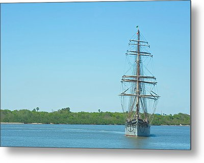 Tall Ship Elissa Metal Print