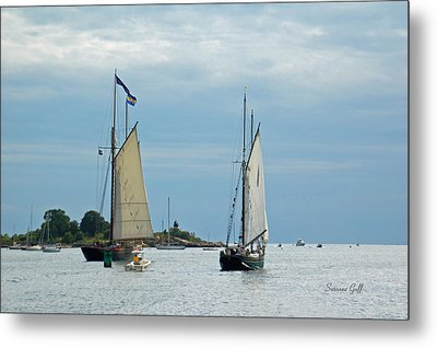 Tall Ships Sailing I Metal Print by Suzanne Gaff