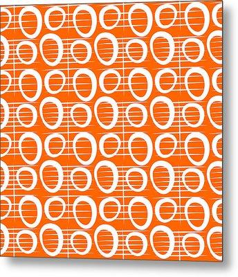 Tangerine Loop Metal Print