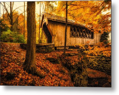 Metal Print featuring the photograph Tannery Hill Bridge by Robert Clifford