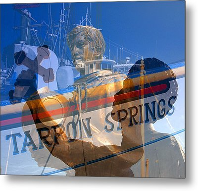 Metal Print featuring the photograph Tarpon Springs Florida Mash Up by David Lee Thompson