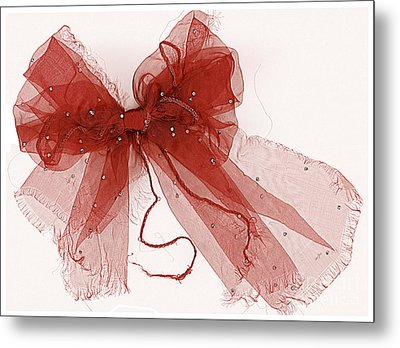 Tattered Red Metal Print by Dolly Mohr