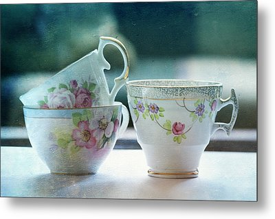 Tea For Three Metal Print by Bonnie Bruno