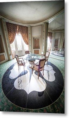 Tea Table In Abandoned Castle Abandoned Buildings Beautiful Int Metal Print by Dirk Ercken