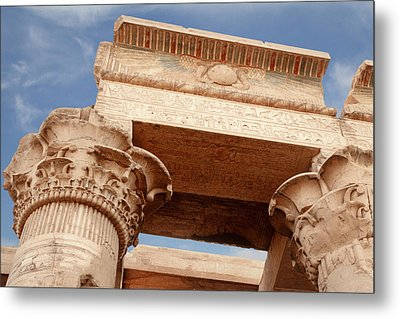 Metal Print featuring the photograph Temple Of Kom Ombo by Silvia Bruno