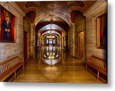 Tennessee Capital Hallway Metal Print by Mike Burgquist