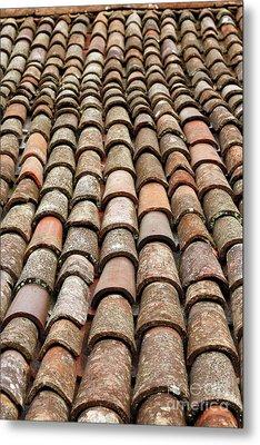 Terra Cotta Roof Tiles Metal Print by Gaspar Avila