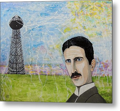 Tesla's Tower. Metal Print by Ken Zabel