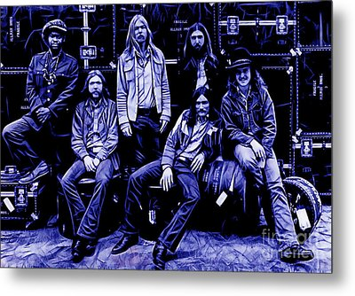 The Allman Brothers Collection Metal Print by Marvin Blaine