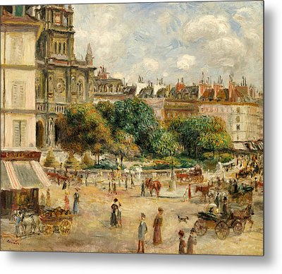 The Banks Of The Seine At Bougival Metal Print by Pierre Auguste Renoir