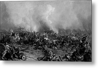 The Battle Of Gettysburg Metal Print by War Is Hell Store