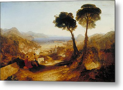 The Bay Of Baiae, With Apollo And The Sibyl Metal Print by JMW Turner