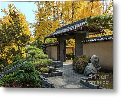 The Beautiful Fall Colors Of The Japanese Gardens Metal Print by Jamie Pham