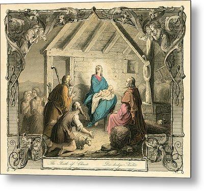 The Birth Of Christ Metal Print by English School