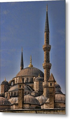 The Blue Mosque In Istanbul Turkey Metal Print by David Smith