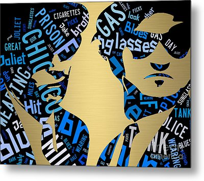The Blues Brothers Quotes Metal Print