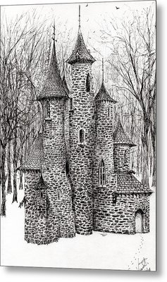 The Castle In The Forest Of Findhorn Metal Print