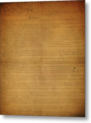 The Constitution Of The United States Of America Metal Print by Dan Sproul