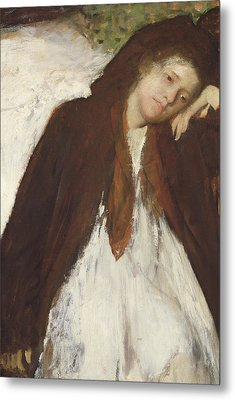 The Convalescent Metal Print by Edgar Degas