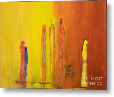 The Conversation Metal Print by Gallery Messina