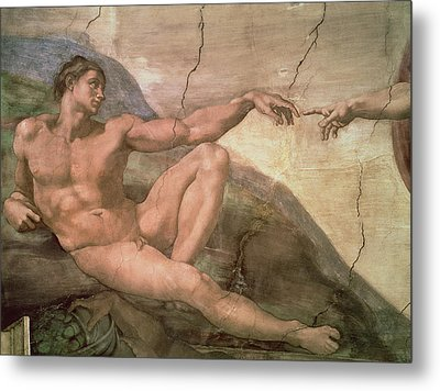 The Creation Of Adam Metal Print by Michelangelo Buonarroti