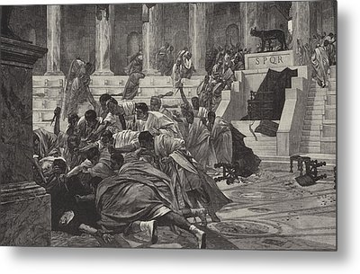 The Death Of Caesar Metal Print