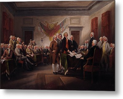 The Declaration Of Independence Metal Print by Mountain Dreams