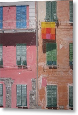 The Face Of Vernazza Metal Print