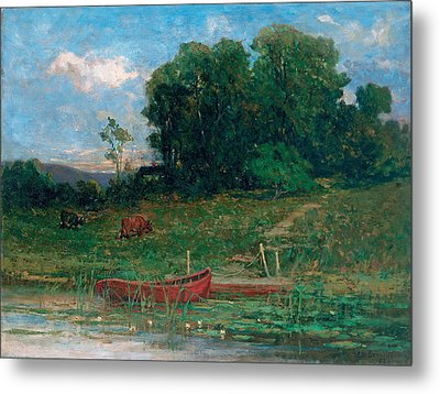 The Farm Landing Metal Print by Edward Mitchell Bannister